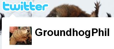 Punxsutawney Phil on Twitter @groundhogphil