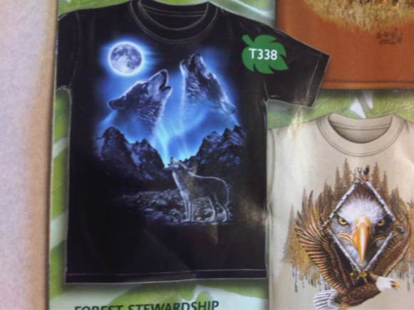 Preschool fundraising with the three wolf moon shirt for Amazon review wolf shirt