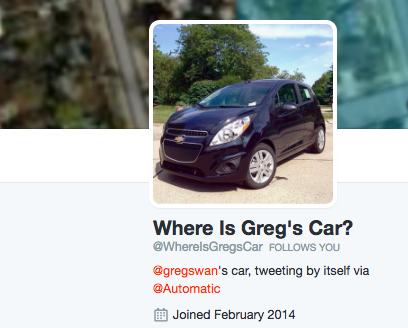 greg swan tweeting car