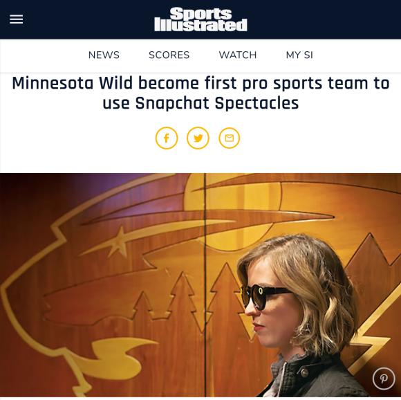 Snapchat Spectacles Minnesota Wild