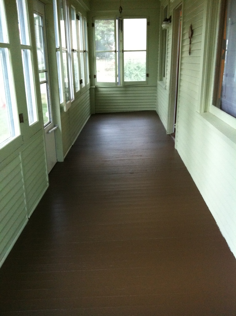 Painting The Front Porch Floor On My 120 Year Old House