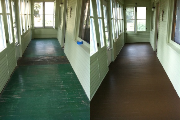 House Floor Colour : Painting the front porch floor on my 120 year-old house