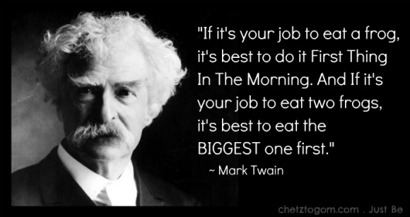 mark twain eat your frog