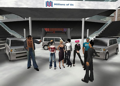 Toyota hosted a virtual press conference to announce the launch of the new Scion xB and xD in Second Life in 2007.