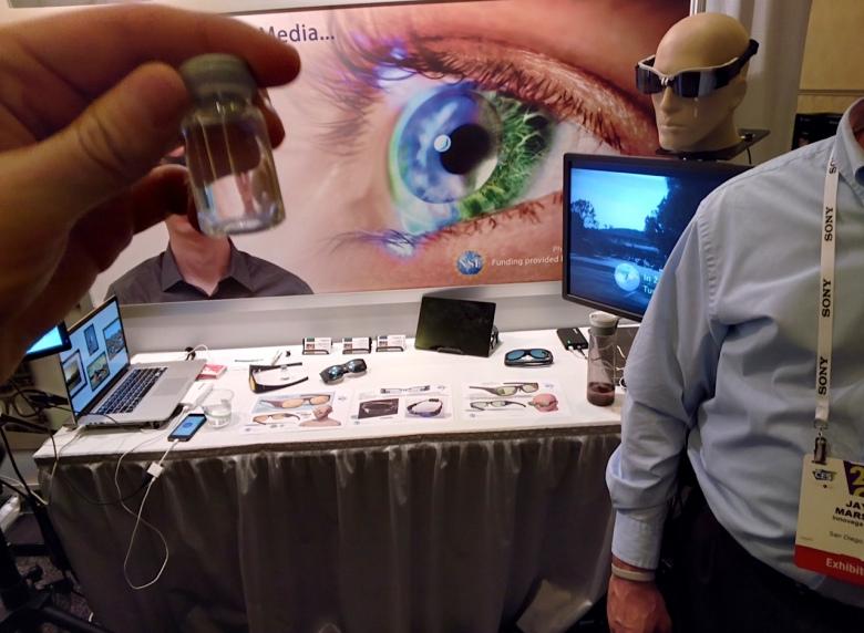 iOptik smart contact lenses