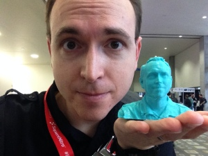 Greg Swan 3D Printed Bust and Face