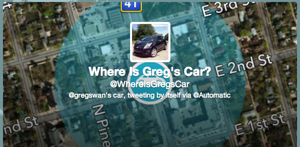 Where Is Greg's Car Twitter Bio