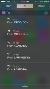Yo app screenshot