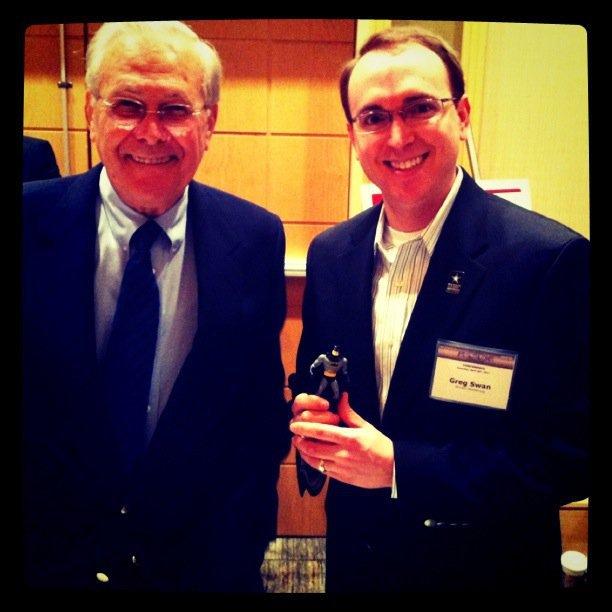 Batman + Rumsfeld