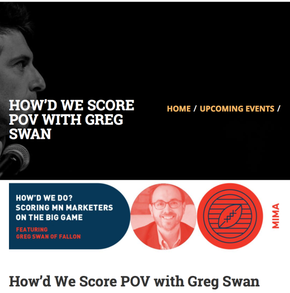 MIMA Super Bowl Greg Swan